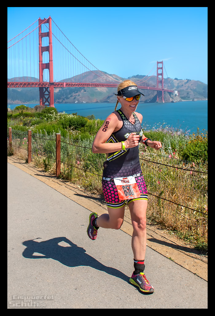 Escape from Alcatraz Triathlon Laufstrecke mit Golden Gate Bridge