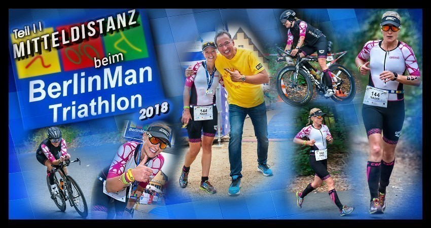 BerlinMan Triathlon 2018 Collage Strandbad Wannsee