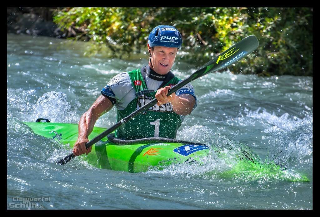 Red Bull Dolomitenmann 2018 Gerhard Schmid auf der Wildwasser Kajakstrecke
