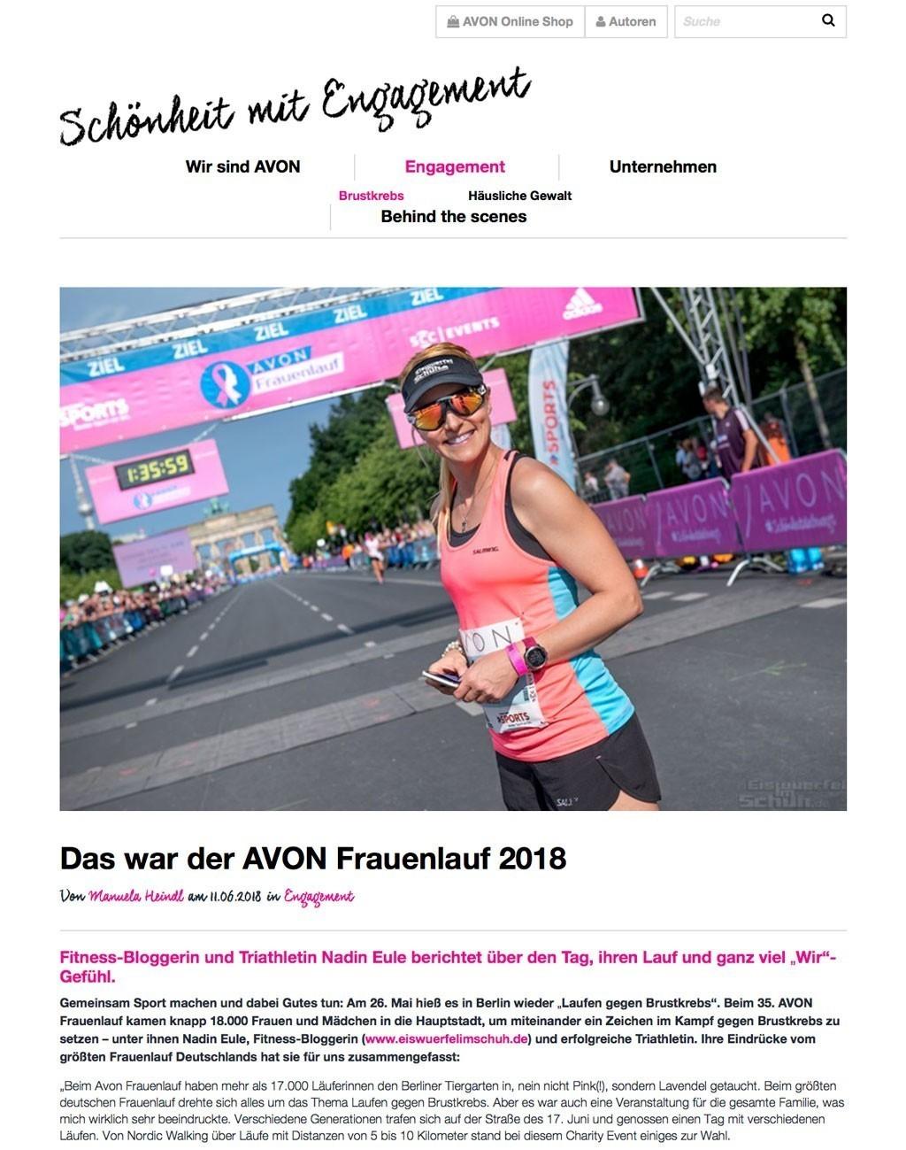 Avon Blog, Mai 2018