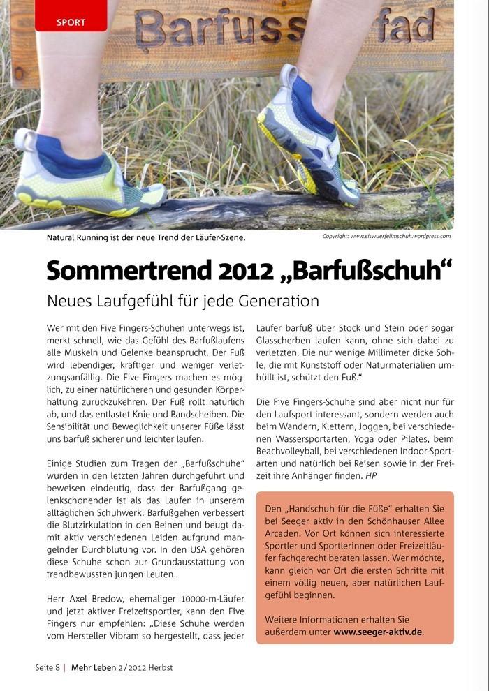 Mehr Laufen Magazin, Februar 2012