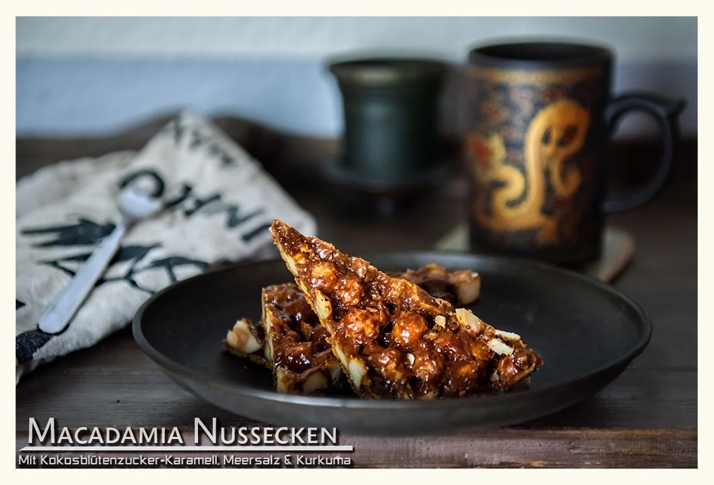 Macadamia Nussecken salzig karamellisiert Rezept