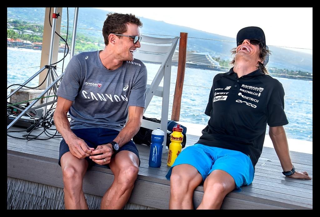 Sebastian Kienle und Jan Frodeno bei der Ironman World Championship