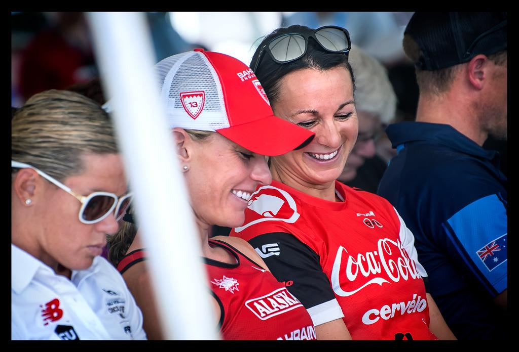 Caroline Steffen und Rachel Joyce bei der Ironman World Championship