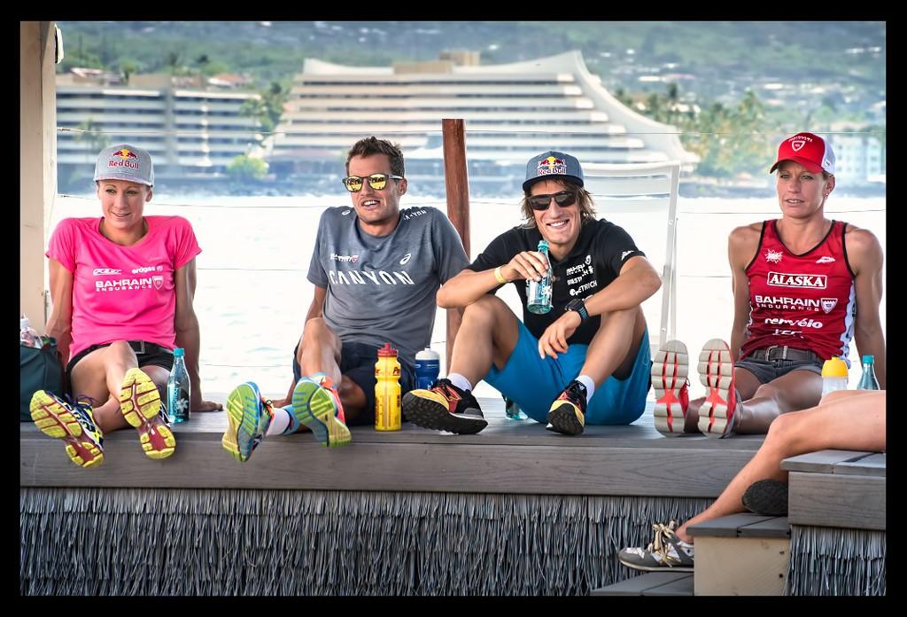 Daniela Ryf, Caroline Steffen, Sebastian Kienle und Jan Frodeno bei der Ironman World Championship