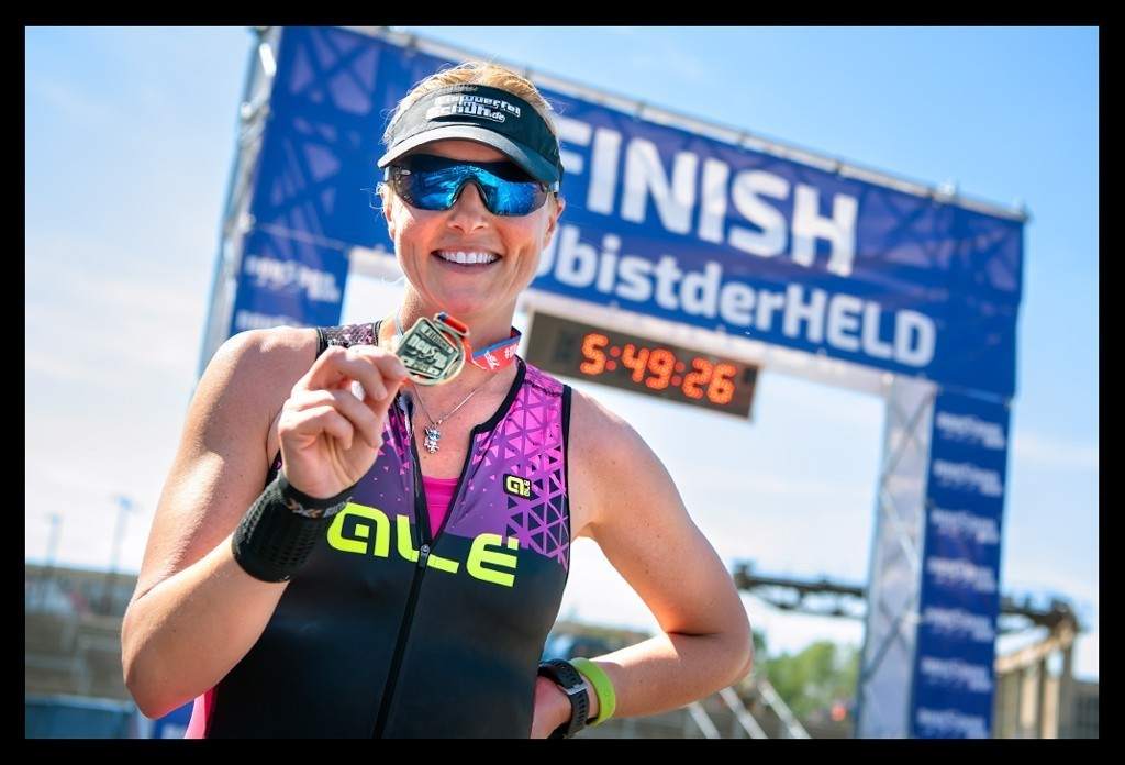 NeuseenMan Triathlon 2019 Finish Medaille