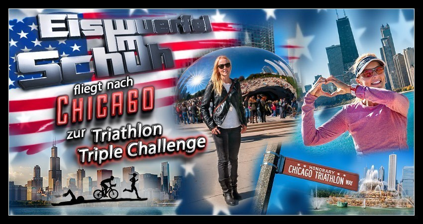 Chicago Triathlon Triple Challenge Reiseblog Collage Banner
