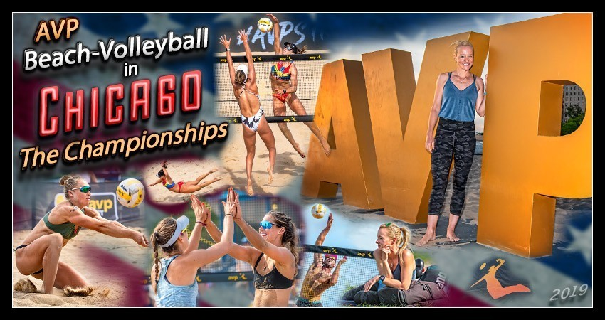 AVP Pro Tour Gold Series Championships Beach Volleyball Chicago Banner Collage