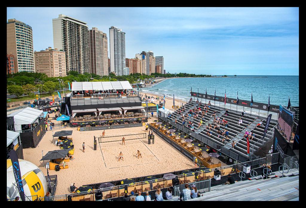 AVP Beach Volleyball Championships Chicago 2019 Main Court