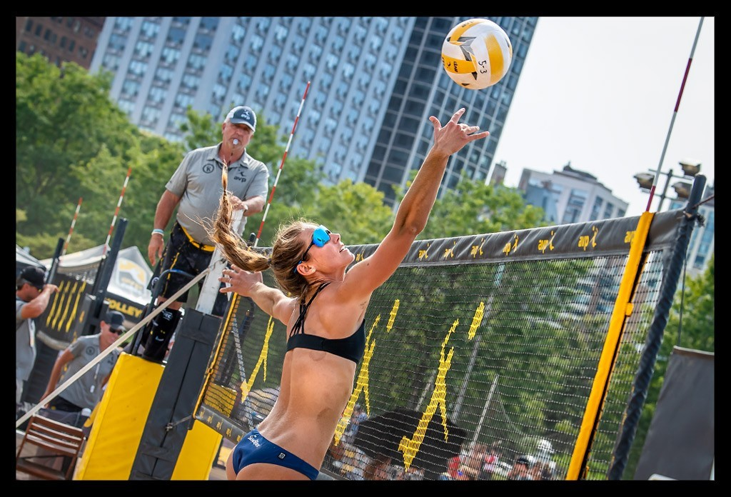 AVP Beach Volleyball Championships Chicago Oak Street Beach Main Court