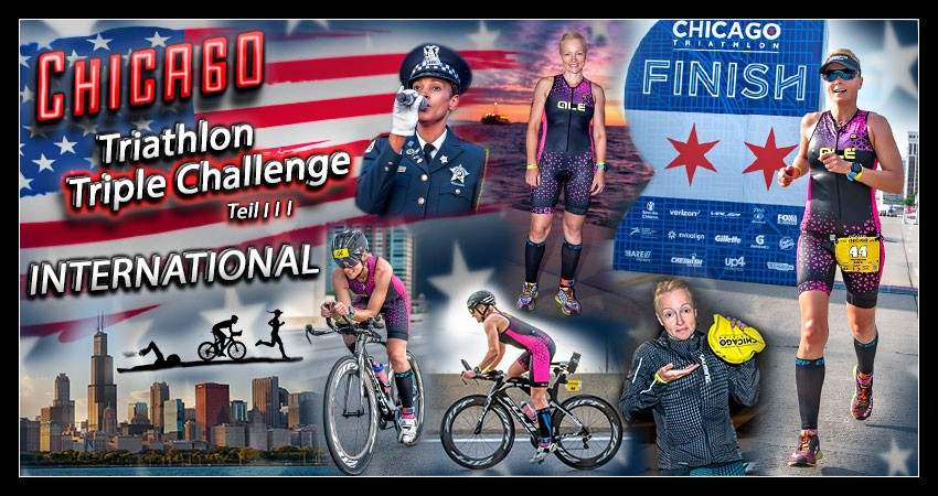 Chicago Triathlon Triple Olympische Distanz Banner Collage