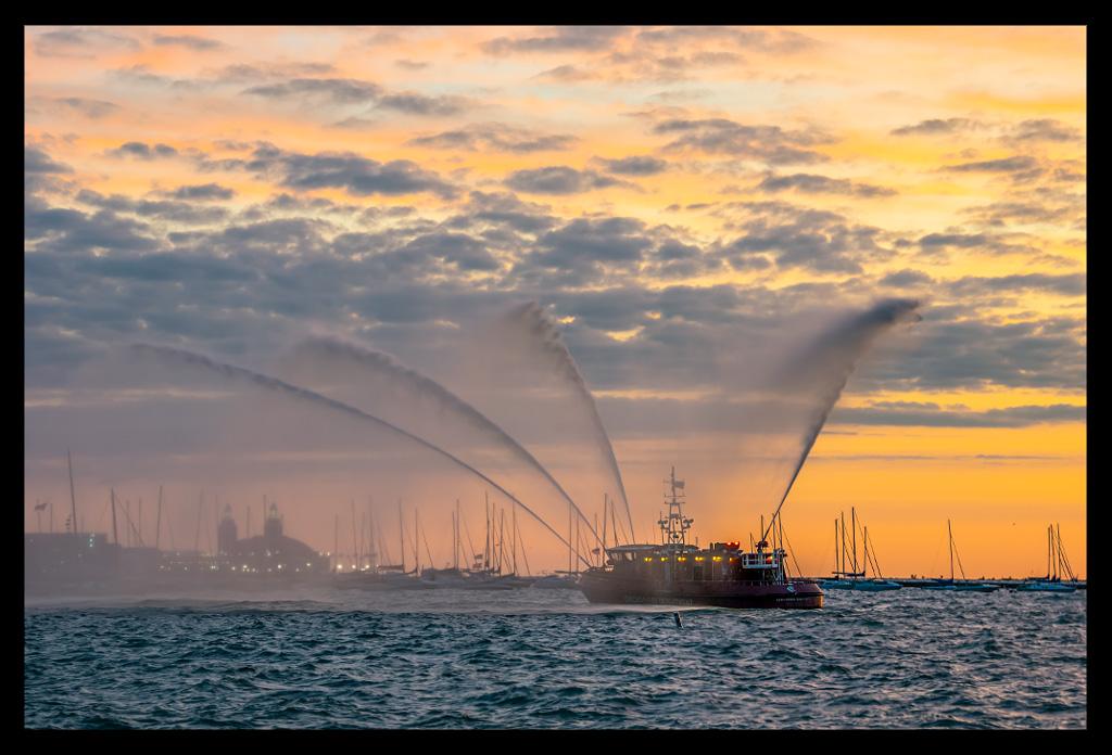 Chicago Triathlon Lake Michigan Morning Sunrise