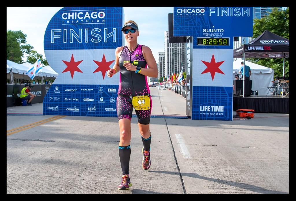 Chicago Triathlon International Course Finish