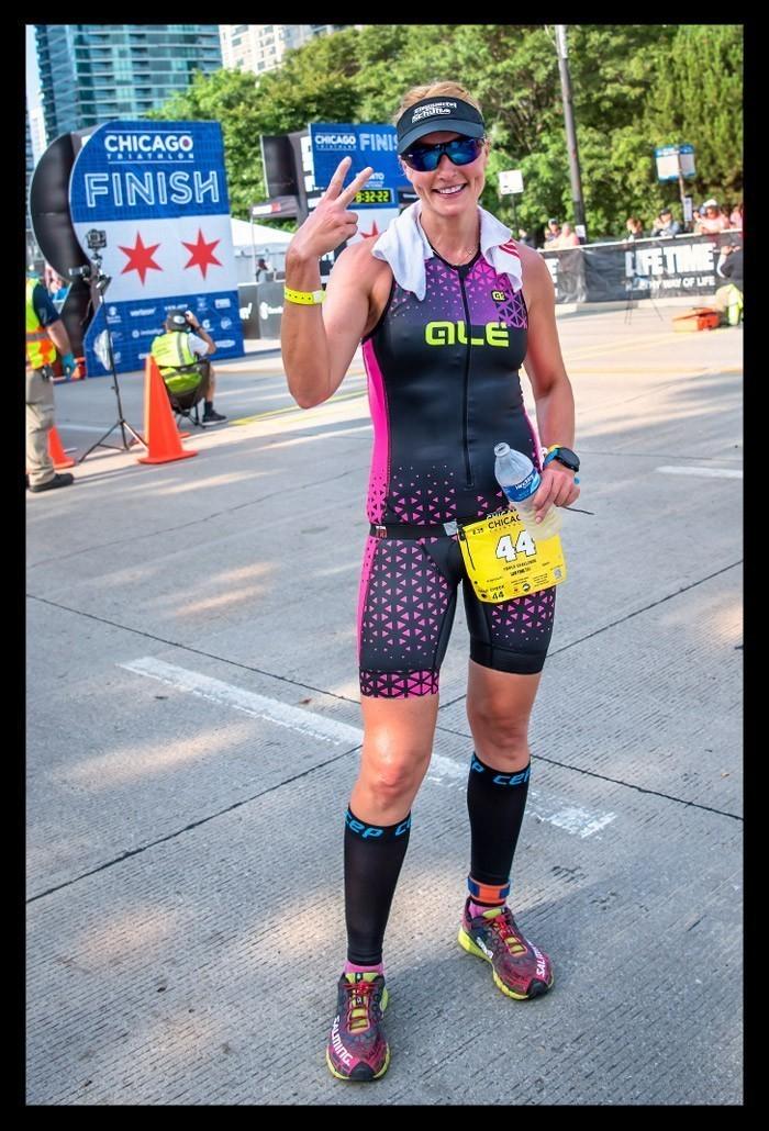 Chicago Triathlon Finish line