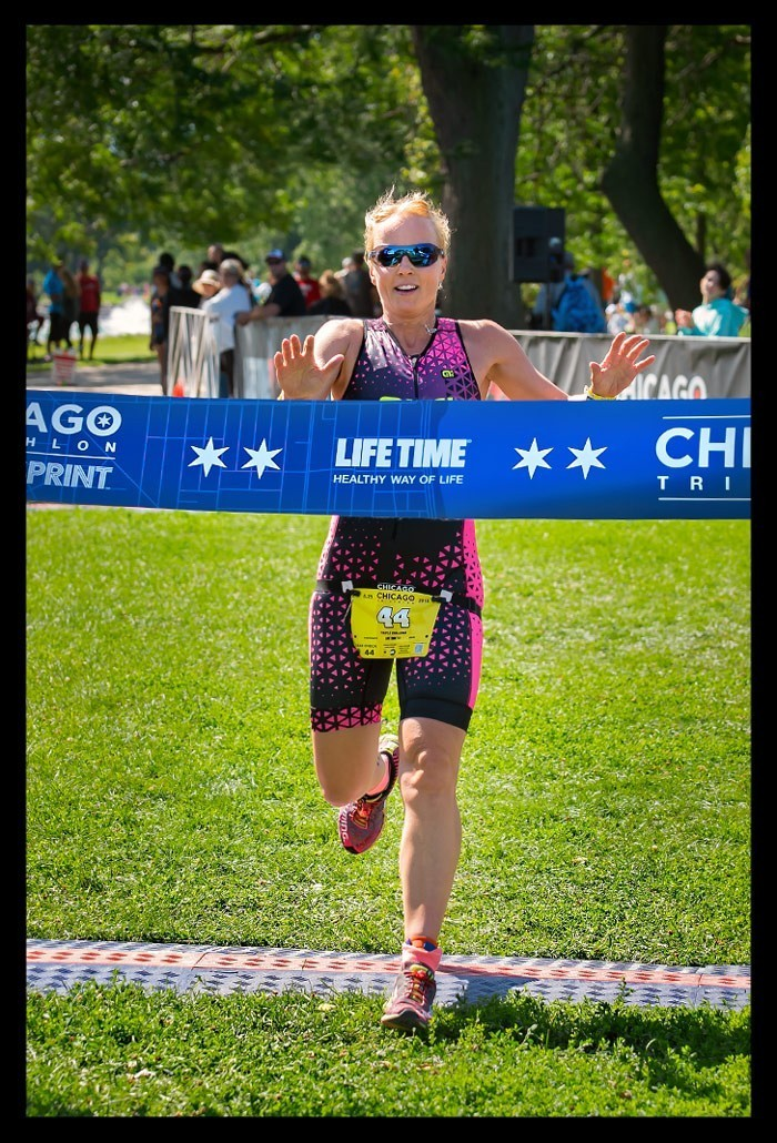 Chicago Triathlon Super Sprint Finishline