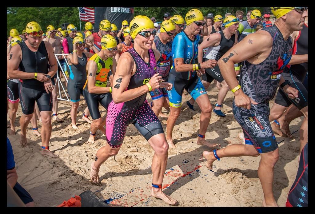 Chicago Triathlon Super Sprint Foster Beach Start
