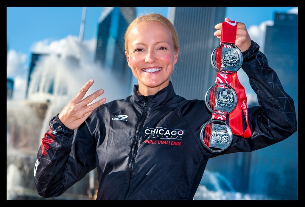 Chicago Triathlon Triple Challenge Medal
