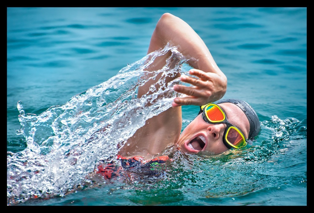 Schwimmtraining Triathlon Brille Chicago