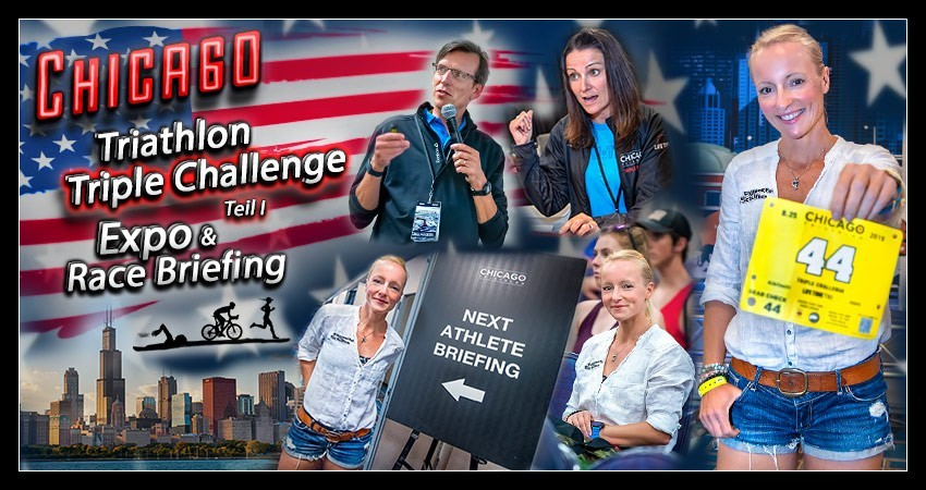 Chicago Triathlon Triple Challenge Collage Banner