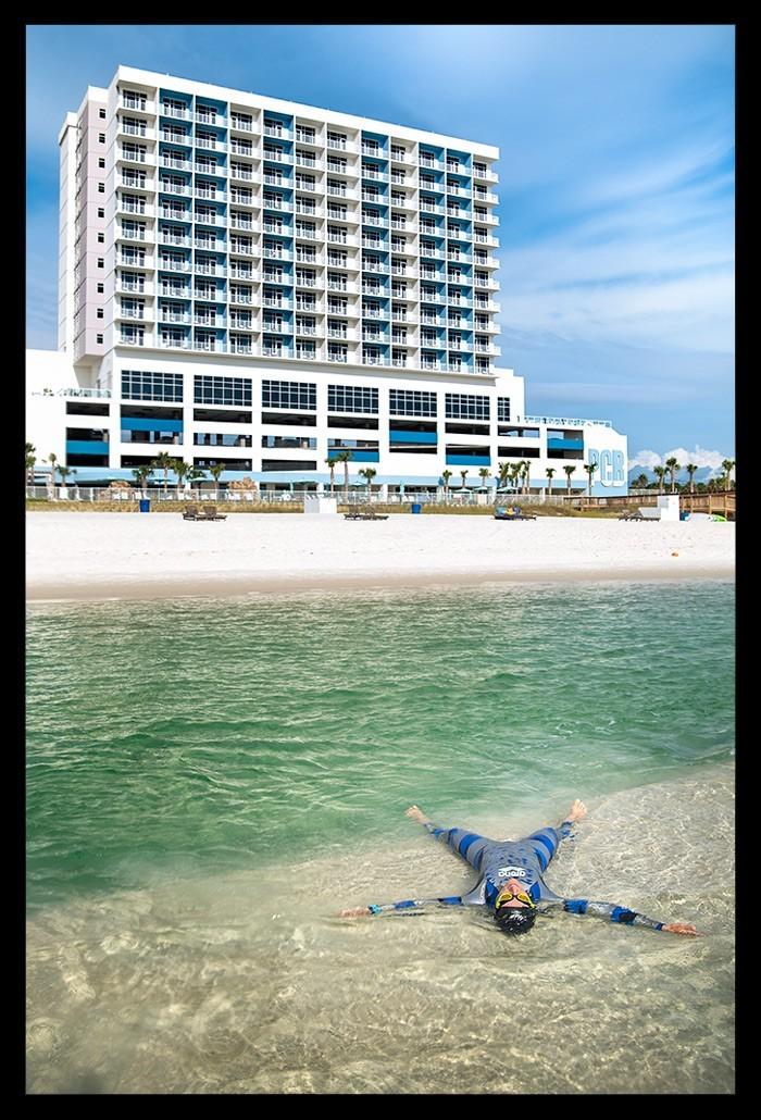 Reiseblogger Schwimmen im Golf von Mexiko
