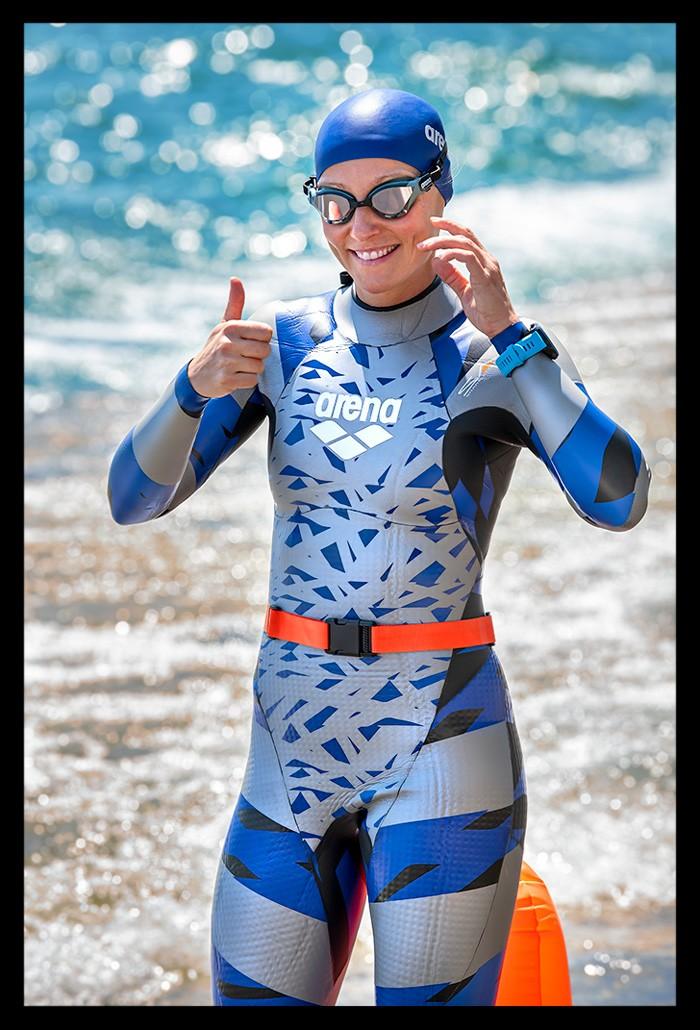 Ironman Schwimmtraining im Arena Neoprenanzug in Panama City Beach Florida
