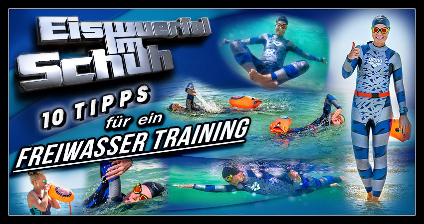 Freiwasserschwimmen Trainings Tipps für Triathleten und Schwimmer Banner