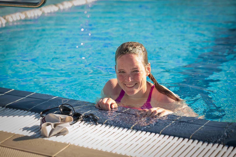 Schwimmtraining Freibad Triathlon