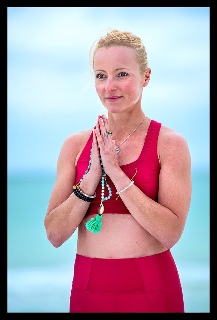 Yoga Gebetshaltung Mala