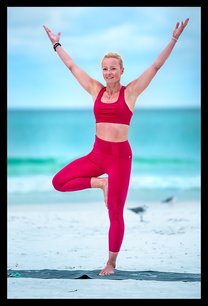 Yoga Vrksasana Baum Position Standfestigkeit