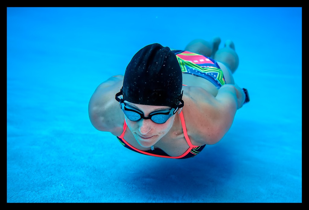 Apnoe Tauchen Training im Schwimmbad