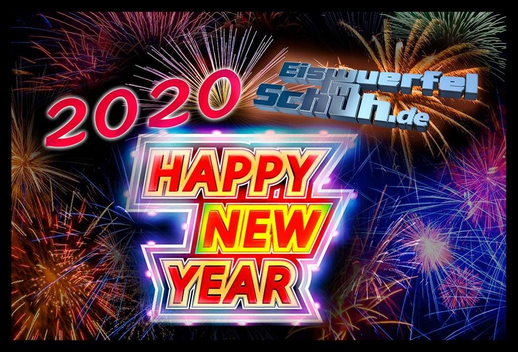 Eiswuerfelimschuh Neujahr Banner Collage