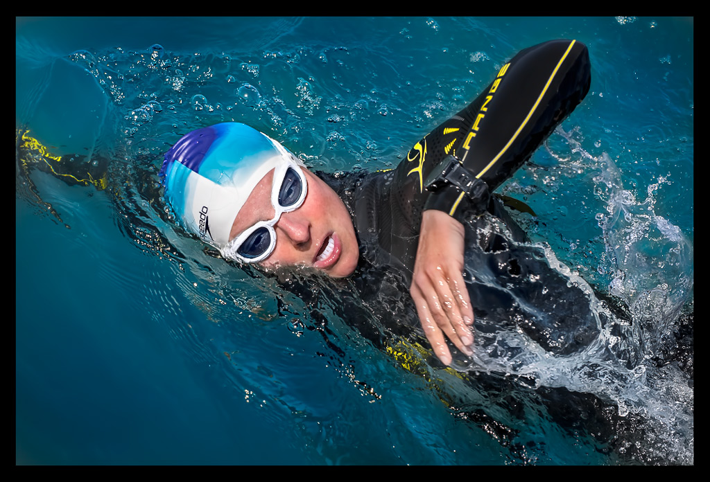 Triathlon Freiwassertraining im Sommer mit Neoprenanzug