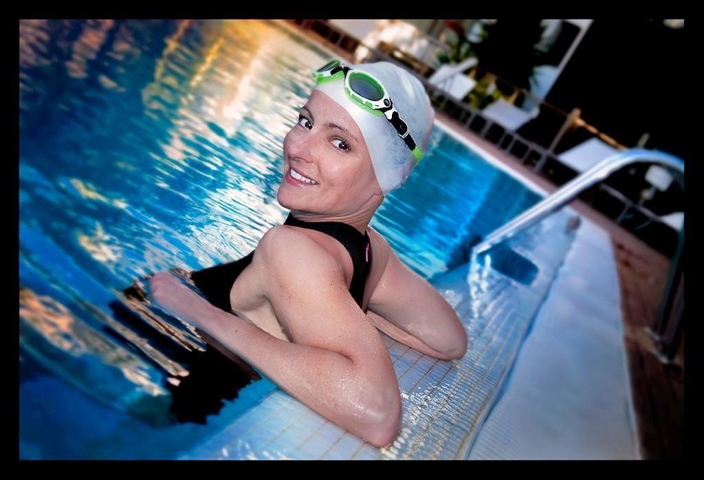 Triathlon Schwimmtraining im Schwimmbecken