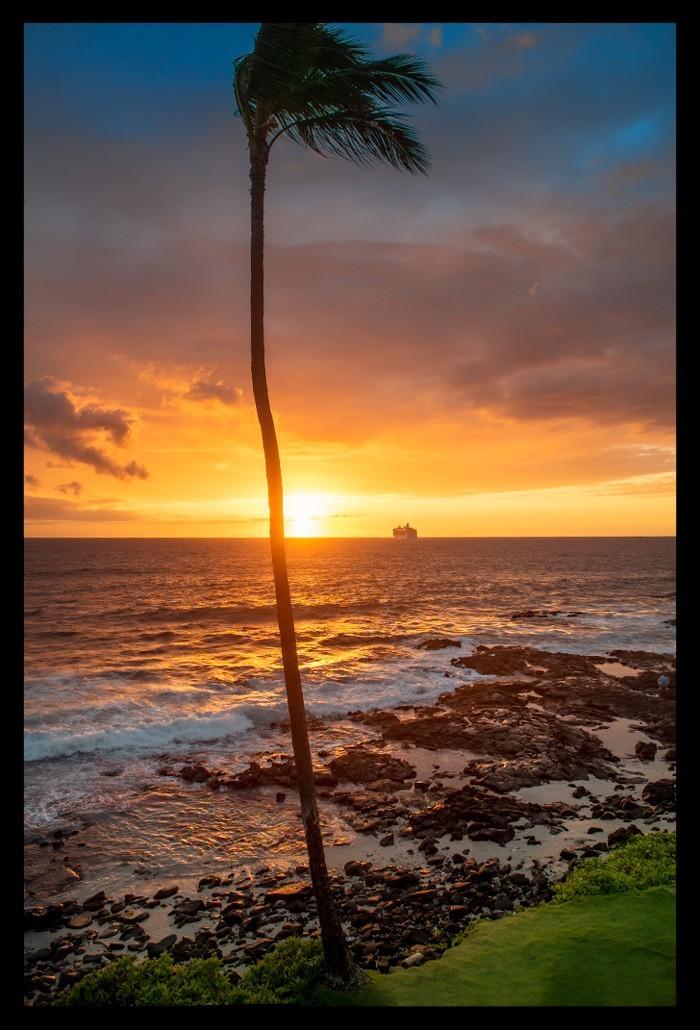 Sonnenuntergang Sunset Ozean Kona Hawaii Big Island