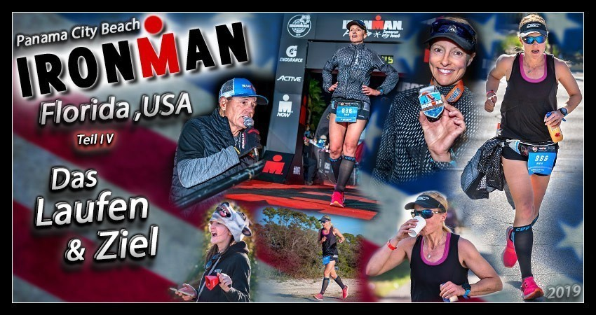 Ironman Florida 2019 Panama City Beach Run Laufstrecke Collage