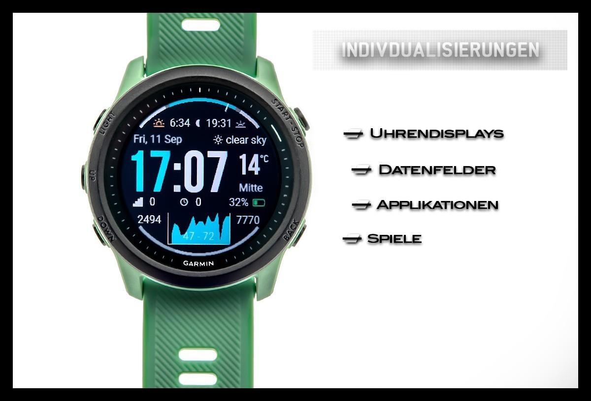 Garmin FR 745 Display Fitness Tracker Smartwatch Übersicht