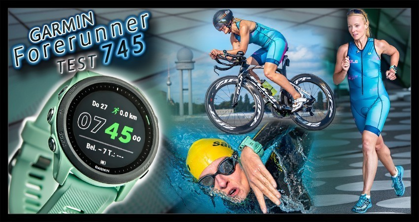 Garmin Forerunner 745 Test Blogger Berlin Triathlon Uhr Collage