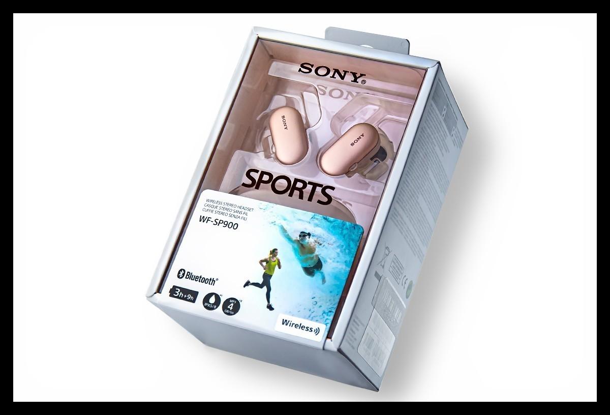 Sony WF SP900 Test Verpackung Packaging