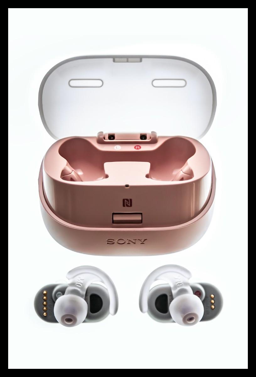 Sony WF SP900 Test ladecase und Kopfhörer