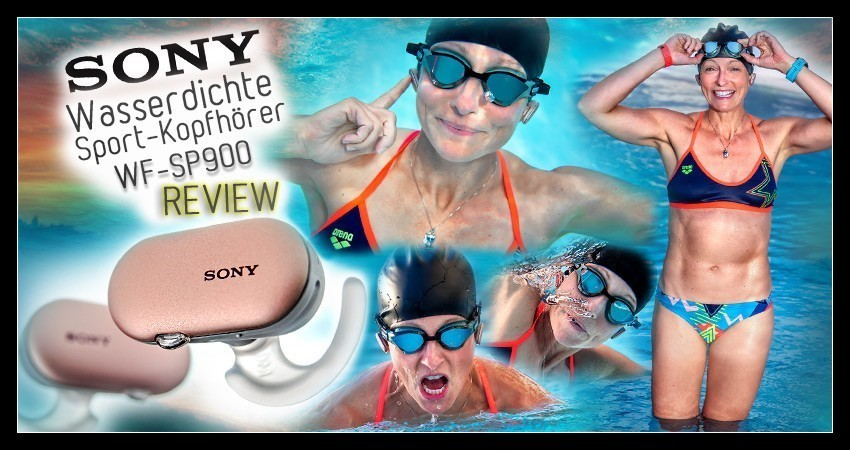 Sony WF SP900 Sport Kopfhörer Test Review Banner Collage