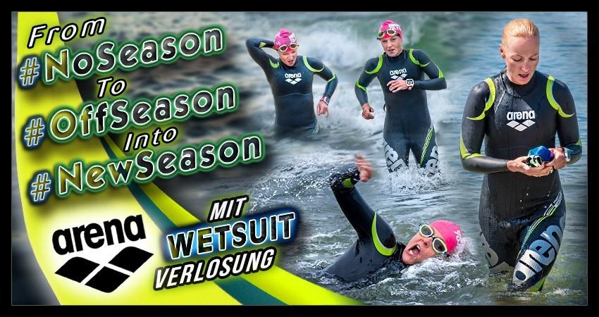 Triathlon Saison Freiwassertraining Arena Waterinstinct Banner