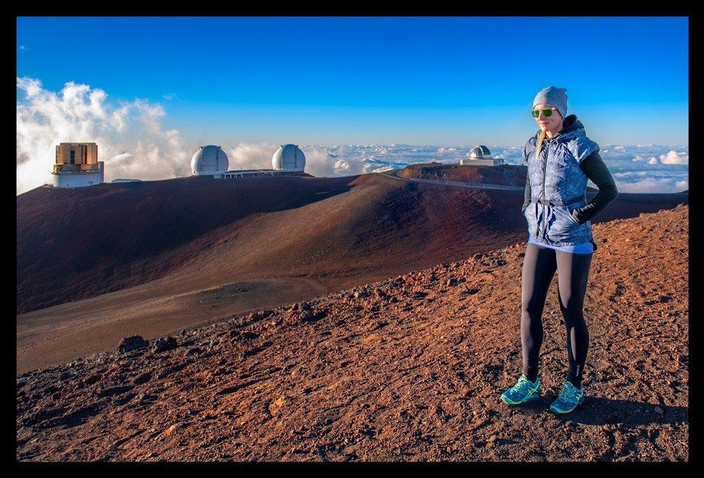 Mauna Kea Big Island Summit Gipfel mit Frau