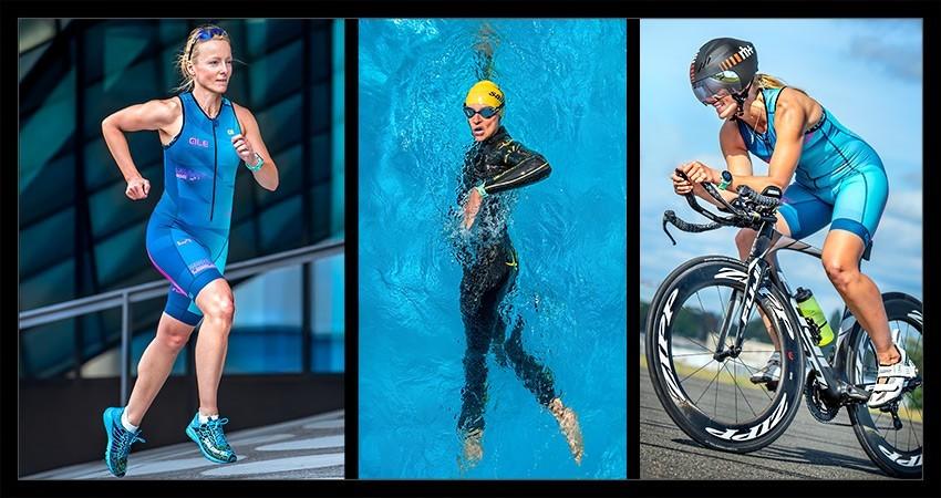 Triathlon Radtraining Schwimmen Laufen Collage Neujahrsvorsätze