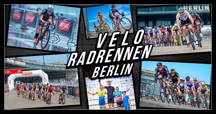 VELO Radrennen in Berlin auf dem Tempelhofer Flugfeld