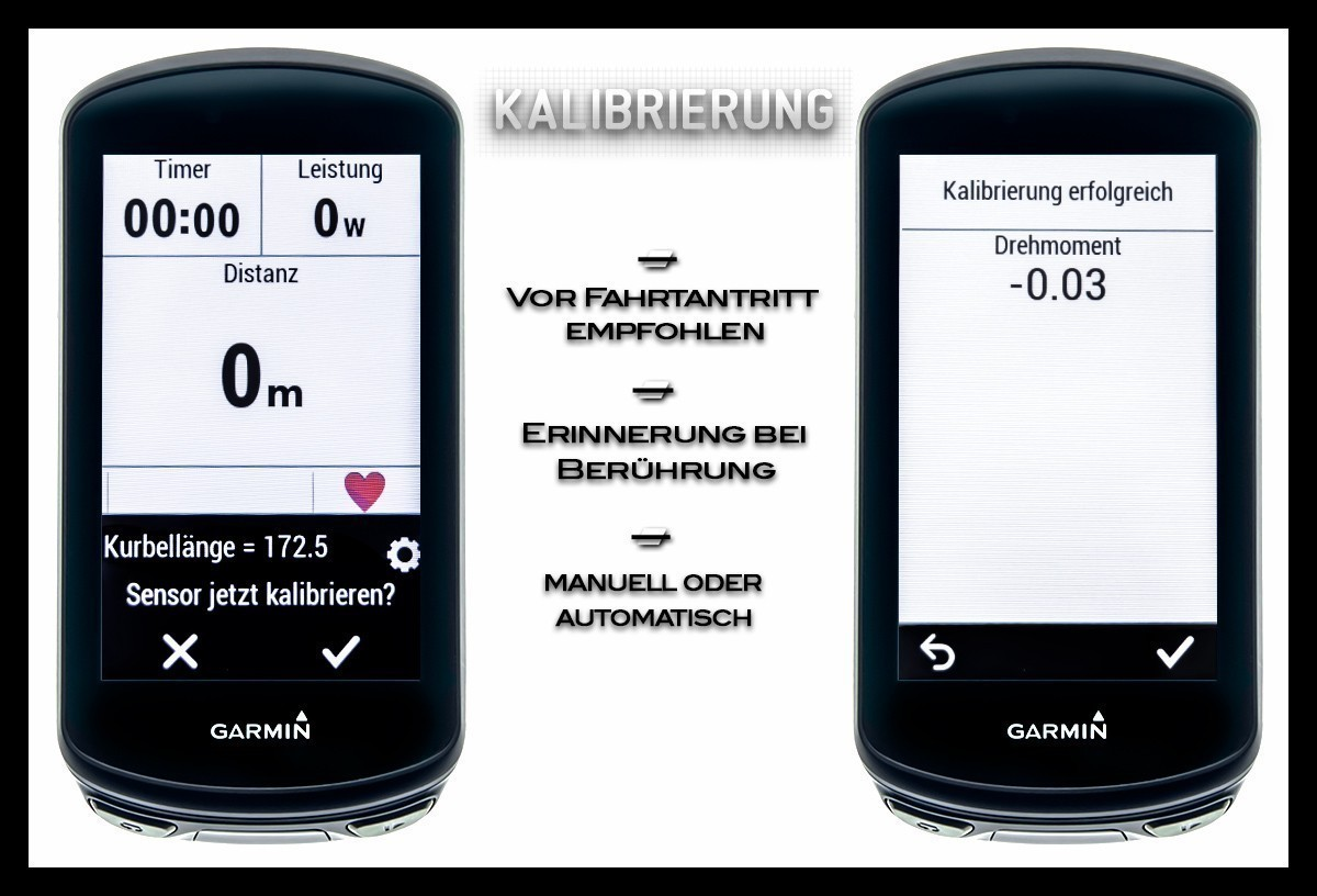 Garmin Edge 1030 Plus Kalibrierung Wattmesssystem Rally