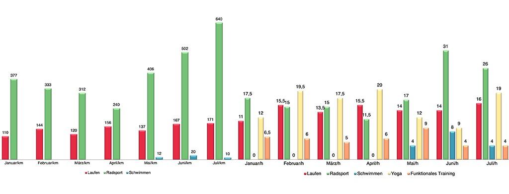 Triathlon Sport Statistiken Diagramme Auswertung