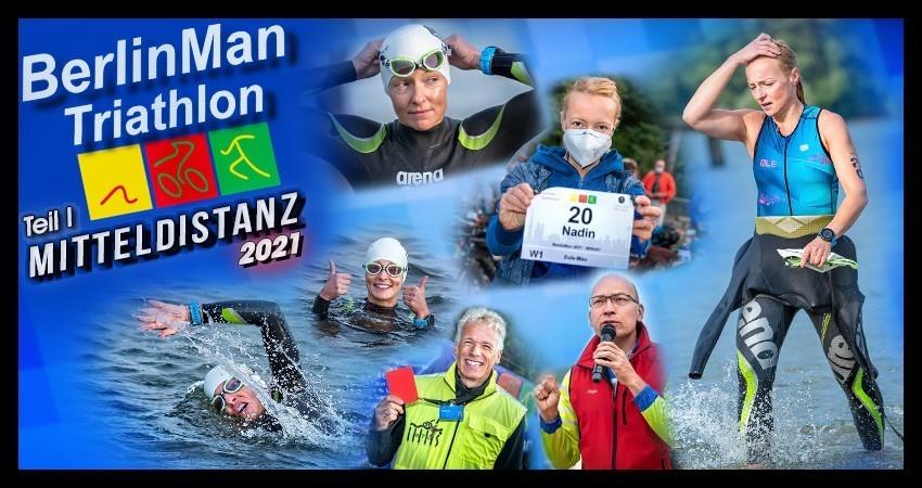 BerlinMan Triathlon 2021 Banner Collage Weltraumjogger Fotos